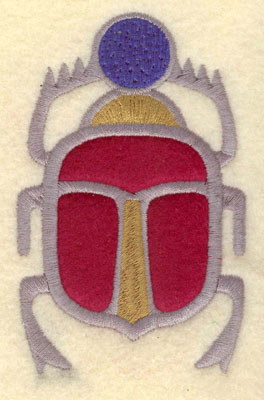 Embroidery Design: Scarab beetle applique2.49w X 3.91h