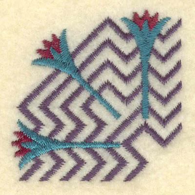 Embroidery Design: Lotus and Nile corner1.75w X 1.75h