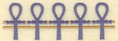 Embroidery Design: Ankh border large5.01w X 1.66h