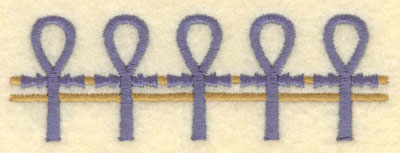 Embroidery Design: Ankh border small3.91w X 1.30h