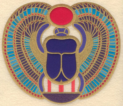 Embroidery Design: Winged scarab three applique large7.83w X 6.76h
