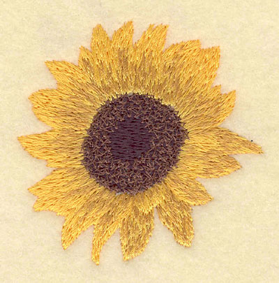 Embroidery Design: Sunflower2.65w X 2.60h