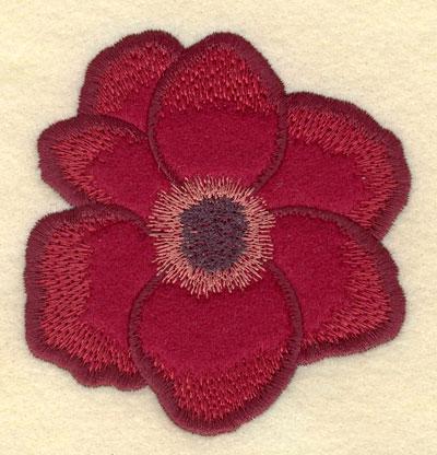 Embroidery Design: Poppy Applique3.61w X 3.76h