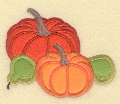Embroidery Design: Pumpkins and Pears Applique5.01w X 4.16h
