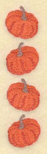 Embroidery Design: Three Pumpkins Vertical1.04w X 4.45h