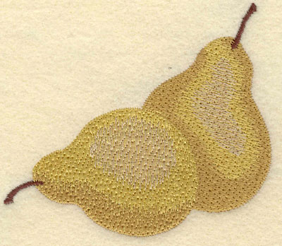 Embroidery Design: Two Pears3.73w X 3.28h