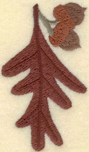 Embroidery Design: Oak Leaf with Acorns1.91w X 3.21h