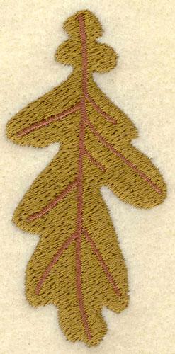 Embroidery Design: Oak Leaf Autumn Green1.67w X 3.39h