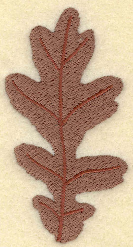 Embroidery Design: Oak Leaf Brown1.73w X 3.28h
