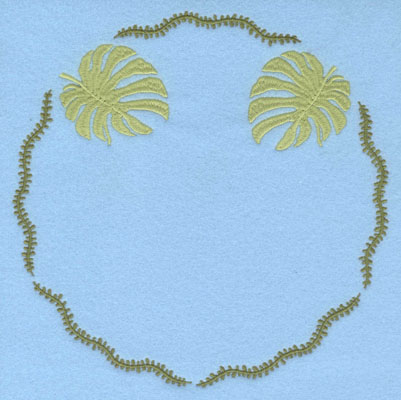 Embroidery Design: Circle Vine with Palm Leaves7.47w X 7.47h