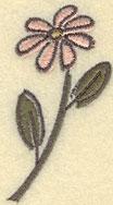 Embroidery Design: Daisy Small1.40w X 2.49h