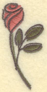 Embroidery Design: Rose Small1.18w X 2.55h