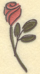 Embroidery Design: Rose Large1.62w X 3.51h