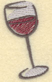 Embroidery Design: Wine Glass Small1.24w X 2.17h