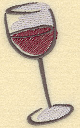 Embroidery Design: Wine Glass Large1.99w X 3.53h