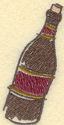 Embroidery Design: Wine Bottle Small1.93w X 3.37h