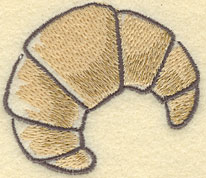 Embroidery Design: Croissant Large2.76w X 2.39h