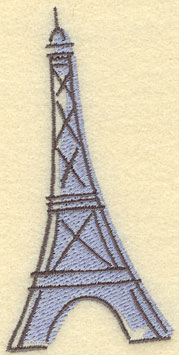 Embroidery Design: Eiffel Tower Large2.35w X 4.82h