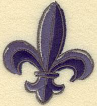 Embroidery Design: Fleur De Lys Large2.50w X 2.87h