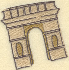 Embroidery Design: Arc De Triomphe3.01w X 3.13