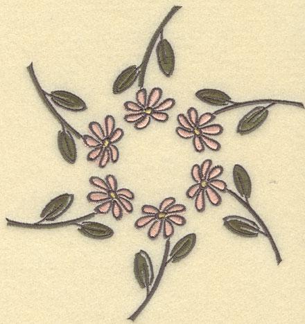 Embroidery Design: Daisy Circle Small6.05w X 6.35h