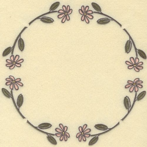 Embroidery Design: Daisy Circle Large7.81w X 7.81h