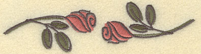 Embroidery Design: Rose Two5.26w X 1.41h