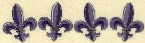 Embroidery Design: Fleur De Lys Border9.52w X 2.58h