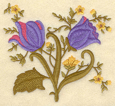 """Embroidery Design: Flowers B 5.00""""w X 4.51""""h"""