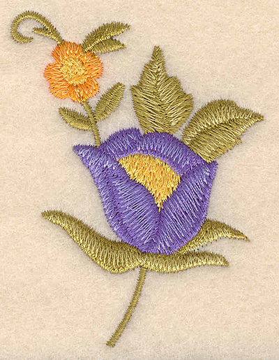 """Embroidery Design: Floral duo 2.24""""w X 3.01""""h"""