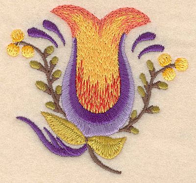 """Embroidery Design: Flower D 3.23""""w X 3.00""""h"""