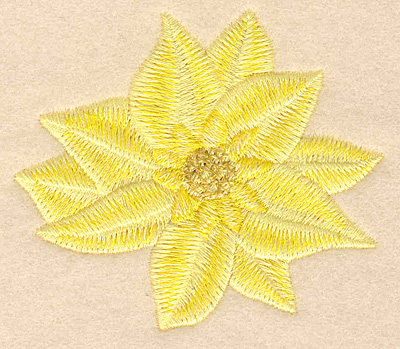 """Embroidery Design: Flower yellow 3.00""""w X 2.61""""h"""