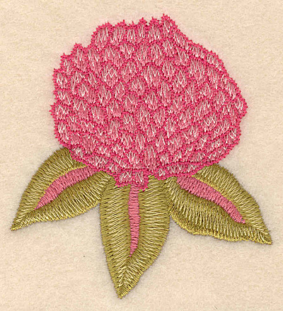 """Embroidery Design: Flower pink 2.79""""w X 3.01""""h"""