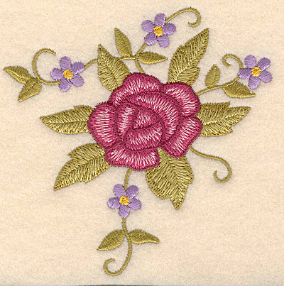 """Embroidery Design: Rose bouquet  3.90""""w X 3.90""""h"""