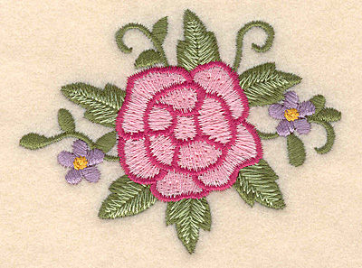 "Embroidery Design: Rose 3.25""w X 2.47""h"