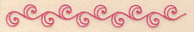 """Embroidery Design: Floral border B 6.66""""w X 0.86""""h"""