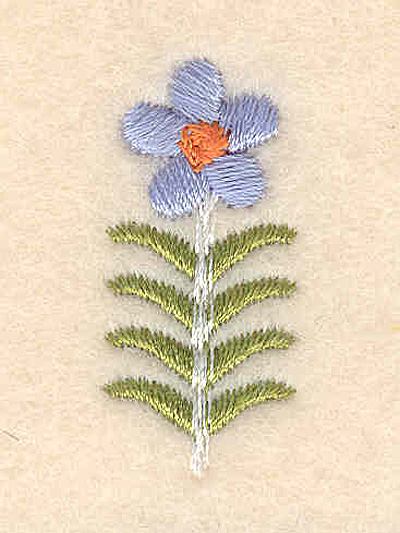 """Embroidery Design: Forget-Me-Not accent 0.59""""w X 1.32""""h"""