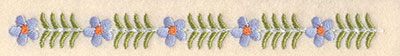"""Embroidery Design: Forget-Me-Not border 0.59""""w X 6.22""""h"""