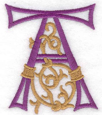 "Embroidery Design: Festive Alphabet A large 3.02""w X 3.60""h"