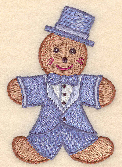 "Embroidery Design: Gingerbread man small 2.69""w X 3.90""h"