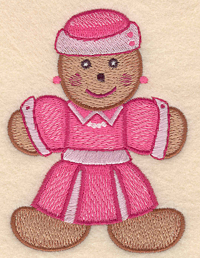 "Embroidery Design: Gingerbread woman large 3.22""w X 4.32""h"