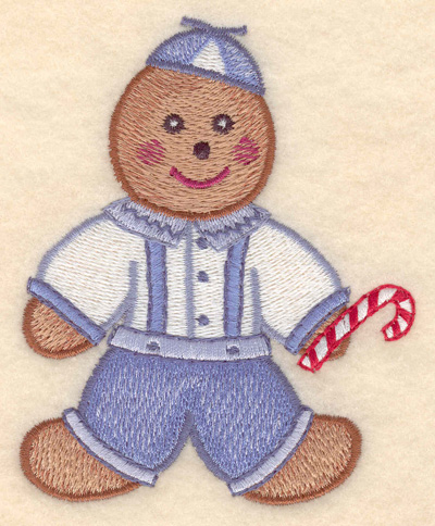 """Embroidery Design: Gingerbread boy large 3.40""""w X 4.21""""h"""