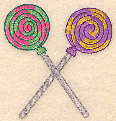 "Embroidery Design: Lollipops spiral large  4.56""w X 4.88""h"