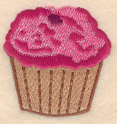 "Embroidery Design: Cupcake small 2.33""w X 2.46""h"
