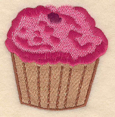 """Embroidery Design: Cupcake large 2.98""""w X 3.15""""h"""