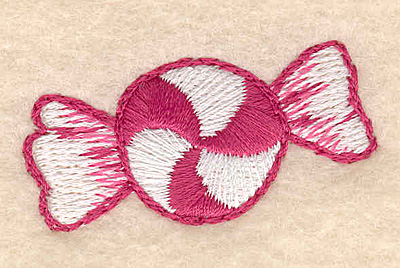 """Embroidery Design: Mint candy 1.76""""w X 0.94""""h"""