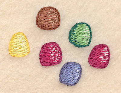 "Embroidery Design: Gumdrop cluster 2.14""w X 1.66""h"