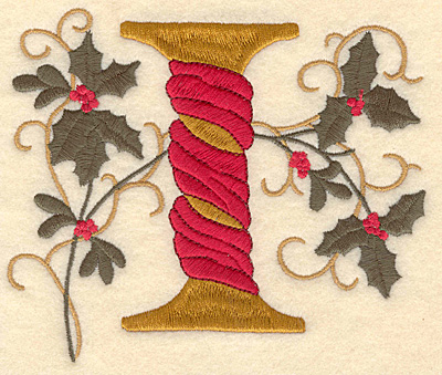 Embroidery Design: Holly Alphabet I 3 inch