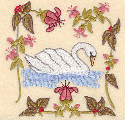 Embroidery Design: G Seven swans a-swimming4.97w X 5.00h