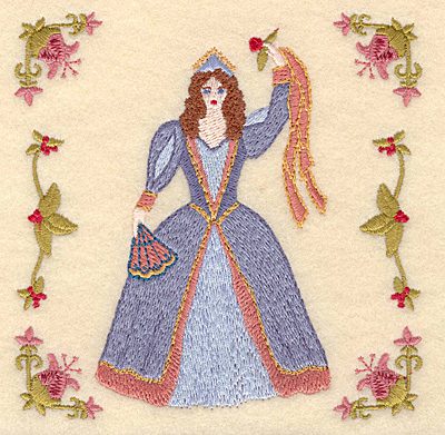 Embroidery Design: I Nine ladies dancing4.97w X 5.00h